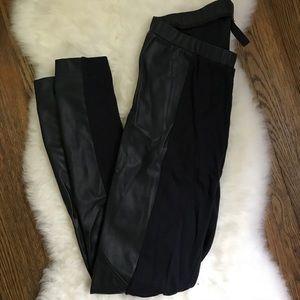 Pants - mixed media leggings